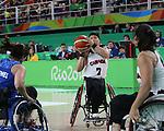 Cindy Ouellet, Rio 2016 - Wheelchair Basketball // Basketball en fauteuil roulant.<br /> The Canadian women's wheelchair basketball team competes against Argentina in the preliminaries // L'équipe canadienne féminine de basketball en fauteuil roulant affronte l'Argentine dans la ronde préliminaire. 10/09/2016.