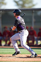 Colorado Rockies Vince Fernandez (36) during an Instructional League game against the Los Angeles Angels of Anaheim on October 6, 2016 at the Tempe Diablo Stadium Complex in Tempe, Arizona.  (Mike Janes/Four Seam Images)