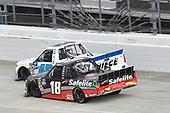 #45: Ross Chastain, Niece Motorsports, Chevrolet Silverado CarShield, #18: Harrison Burton, Kyle Busch Motorsports, Toyota Tundra Safelite AutoGlass