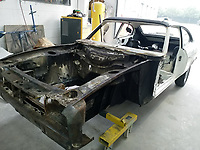 Ford Capri that from TV show Minder being restored to its former glory after it was almost destroyed