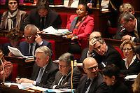 JEROME CAHUZAC - 12 JANVIER 2013 - PARIS - FRANCE - SEANCE DES QUESTIONS AU GOUVERNEMENT A L'ASSEMBLEE NATIONALE