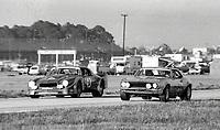 Camaros:  #43 Chevrolet Camaro of Bill McDill and Steve Behr , 58th place, and #64 Chevrolet Camaro of C.C. Canada, Russ Boykin, and Tom Ciccone, 23rd place, 24 Hours of Daytona, Daytona International Speedway, Daytona Beach, FL, February 1979. (Photo by Brian Cleary/bcpix.com)