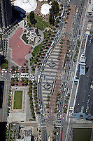 aerial photograph Embarcadero at Ferry Building San Francisco financial district