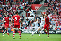 Sun 06 October 2013 Pictured: Wilfried Bony of Swansea makes an attempt at a header  Re: Barclays Premier League Southampton FC  v Swansea City FC  at St.Mary's Stadium, Southampton