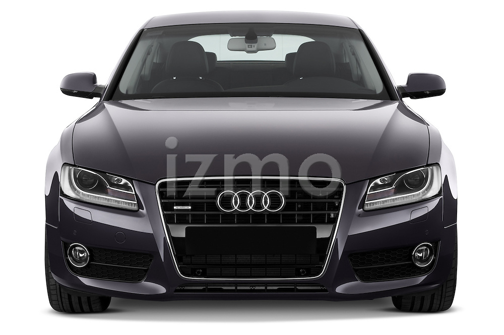 Straight front view of a 2009 - 2011 Audi A5 Ambition Luxe Sportback 5-Door Hatchback.