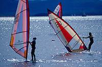 Surfboarding Lake Champlain, VT.