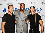 Ray Molinere, Jay Paul Molinere and Darren Woodson at the Time Warner Media Cabletime Upfront media event held at the Private Social Restaurant  in Dallas, Texas.