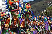 PASTO- COLOMBIA, 03-01-2018: Segundo día de los carnavales de Blancos y Negros en el sur del país , en la foto  integrantes de Los Colectivos Coreográficos de La Fundación Danzantes del Cerillo de la Institución universtitaria Cesmag. / Second day of the Blancos  and Negros carnivals in the south of the country, in the photo members of The Choreographic Collectives of the Danzantes del Cerillo Foundation of the Cesmag University Institution. Photo: Vizzorimage / Leonardo Castro  / Contribuidor