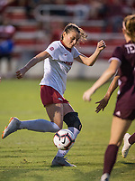 Hawgs Illustrated/BEN GOFF <br /> Tori Cannata of Arkansas shoots a goal in the second half vs Texas A&M Thursday, Sept. 20, 2018, at Razorback Field in Fayetteville. It was Cannata's second goal in the 3-2 victory over Texas A&M.