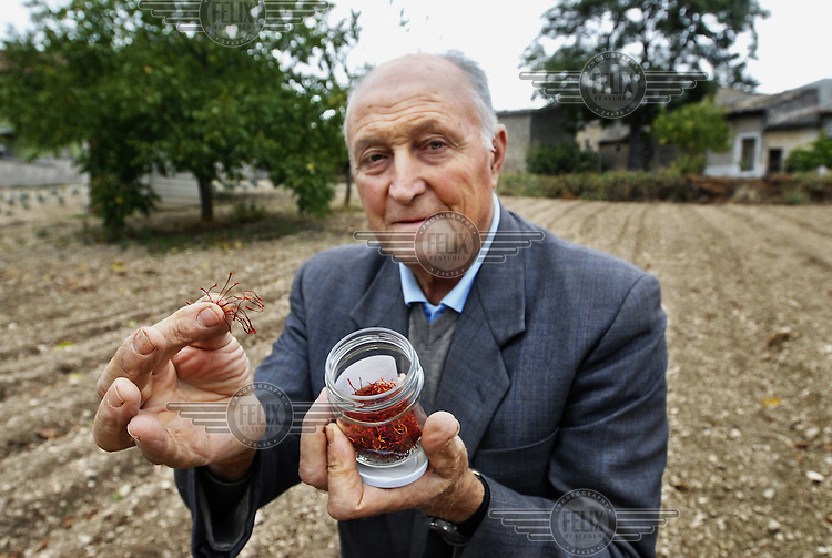 Giuseppe Ardizzola is the president of the Saffron cooperative in Navelli in the Abruzzo region. The saffron has won prizes for being the best saffron in the world..