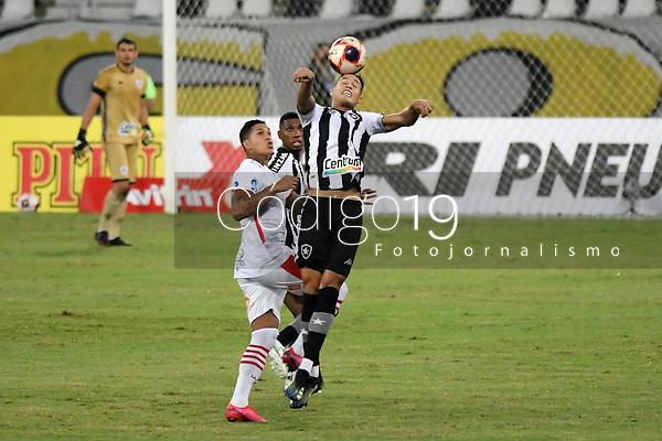 Rio de Janeiro (RJ), 13/03/2021 - Bangu-Botafogo  - Jogador do Botafogo,durante partida contra o Bangu,válida pela 3ª rodada da Taça Guanabara,realizada no Estádio Nilton Santos (Engenhão), na zona norte do Rio de Janeiro,neste sábado (13).