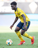 CHARLOTTE, NC - JULY 20: James Olayinka #52 during a game between ACF Fiorentina and Arsenal at Bank of America Stadium on July 20, 2019 in Charlotte, North Carolina.