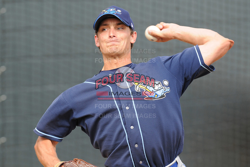 July 7, 2008: LHP Paul Mildren (22) of the Wilmington Blue Rocks, Class A affiliate of the Kansas City Royals, in a game against the Myrtle Beach Pelicans at BB&T Coastal Field in Myrtle Beach, S.C. Photo by:  Tom Priddy/Four Seam Image