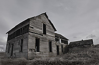 Worn weather old house, Palouse, Washington