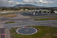 aerial photograph of Buchanan Field (CCR), Concord, Contra Costa County, California, Mount Diablo in the background