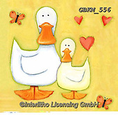 Kate, EASTER, OSTERN, PASCUA, paintings+++++Duck with Duckling tif.,GBKM556,#e#, EVERYDAY ,ducks,
