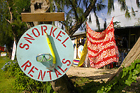 Snorkeling equipment, surfboards and much more are available for the outdoor adventurist at this roadside shop on Oahu's north shore.