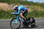 Alejandro Valverde (ESP) Movistar Team in action during Stage 1 of the Itzulia Basque Country 2021, an individual time trial running 13.9km from Bilbao to Bilbao, Spain. 6th April 2021.  <br /> Picture: Luis Angel Gomez/Photogomezsport   Cyclefile<br /> <br /> All photos usage must carry mandatory copyright credit (© Cyclefile   Luis Angel Gomez/Photogomezsport)