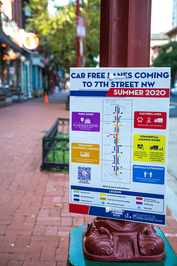 Urban Traffic Organization Sign, Washington DC, USA.