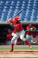 Philadelphia Phillies Roman Quinn (4) during an instructional league game against the New York Yankees on September 29, 2015 at Brighthouse Field in Clearwater, Florida.  (Mike Janes/Four Seam Images)