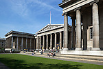 Great Britain, England, London: South front of the British Museum, founded to house the collection of Sir Hans Sloane and designed by Sir Robert Smirke in 1823