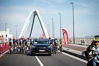 peloton before official start. <br /> <br /> 94th Schaal Sels 2019<br /> One Day Race: Merksem  >  Merksem  (UCI 1.1)<br /> ©kramon