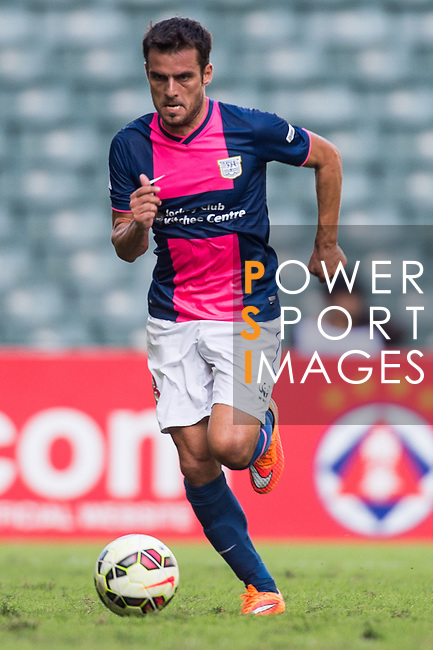 Jorge Tarres of Kitchee in action during the HKFA Premier League between South China Athletic Association vs Kitchee at the Hong Kong Stadium on 23 November 2014 in Hong Kong, China. Photo by Aitor Alcalde / Power Sport Images