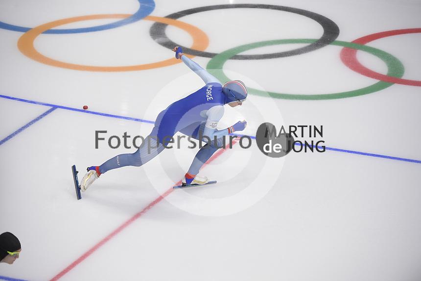 OLYMPIC GAMES: PYEONGCHANG: 18-02-2018, Gangneung Oval, Long Track, 500m Ladies, Hege Bøkko (NOR), ©photo Martin de Jong