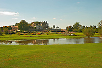 Chateau Lafite Rothschild in Pauillac, Medoc, Bordeaux, with park garden and pond