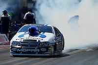 Sept. 23, 2012; Ennis, TX, USA: NHRA pro stock driver Allen Johnson during the Fall Nationals at the Texas Motorplex. Mandatory Credit: Mark J. Rebilas-