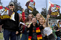 27th March 2021; Hamilton, New Zealand;  Fans allowed in the stadium.<br /> Chiefs versus Blues, Super Rugby  AOTEAROA, FMG Waikato Stadium, Hamilton, New Zealand. 26 March 2021.