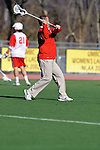 Baltimore, MD - March 3: Fairfield's Assistant Men's Lacrosse Coach Tony Vallance during the Fairfield v UMBC mens lacrosse game at UMBC Stadium on March 3, 2012 in Baltimore, MD.