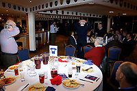 """The game of """"Heads & Tails"""" being played during the Greene King IPA Championship match between London Scottish Football Club and Hartpury RFC at Richmond Athletic Ground, Richmond, United Kingdom on 11 January 2019. Photo by Carlton Myrie / PRiME Media Images"""