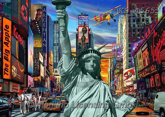 Interlitho-Franco, LANDSCAPES, LANDSCHAFTEN, PAISAJES, paintings+++++,new york city,broadway, KL4565,#l#, EVERYDAY,puzzle,puzzles,fantasy
