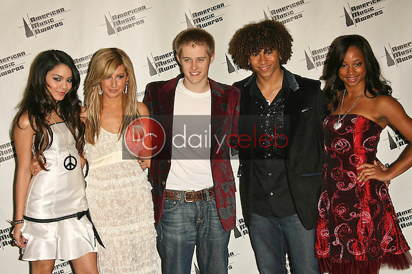 """Cast of """"High School Musical""""<br />in the press room at the 34th Annual American Music Awards. Shrine Auditorium, Los Angeles, CA. 11-21-06<br />Dave Edwards/DailyCeleb.com 818-249-4998"""