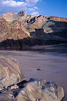 Polished vishnu schist, Bass Camp<br /> Colorado River, Grand Canyon<br /> Grand Canyon National Park<br /> Colorado Plateau, Arizona