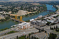 aerial photograph Tower bridge Sacramento river, California