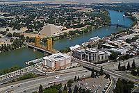 aerial photograph Tower bridge Sacramento river, California