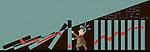 Illustration of businessman preventing blocks from falling
