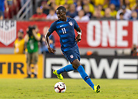 Tampa, FL - Thursday, October 11, 2018: Timothy Weah during a USMNT match against Colombia.  Colombia defeated the USMNT 4-2.
