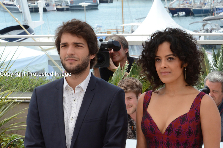 Maeve Jinkings, Humberto Carrao, attend the 'Aquarius' photocall during the 69th Annual Cannes Film Festival at the Palais des Festivals on May 18, 2016 in Cannes, France.