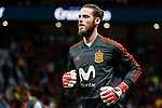 Goalkeeper David de Gea of Spain warming up during the International Friendly 2018 match between Spain and Argentina at Wanda Metropolitano Stadium on 27 March 2018 in Madrid, Spain. Photo by Diego Souto / Power Sport Images
