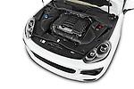 Car Stock 2017 Porsche Cayenne - 5 Door SUV Engine  high angle detail view