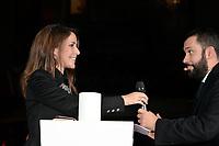 S.A.R LA PRINCESSE MARIE DE DANEMARK ( Marie Agathe Odile Cavallier ), Alexandre LIOT (Directeur BHV) - Lancement des illuminations de noel GOD JUL (joyeux noel danois) au Bazar de l'Hotel de Ville Marais - 15 novembre 2017 - Paris - France