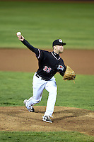Erie SeaWolves pitcher Guido Knudson (33) delivers a pitch during a game against the Akron RubberDucks on May 17, 2014 at Jerry Uht Park in Erie, Pennsylvania.  Erie defeated Akron 2-1.  (Mike Janes/Four Seam Images)