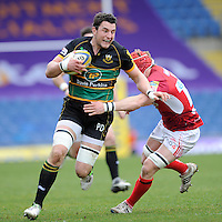 Phil Dowson of Northampton Saints in action during the Aviva Premiership match between London Welsh and Northampton Saints at the Kassam Stadium on Sunday 14th April 2013 (Photo by Rob Munro)