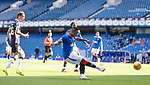 Rangers v St Mirren: Alfredo Morelos fires the ball in for the opening goal which appeared to take a deflection off several St Mirren players on the way in