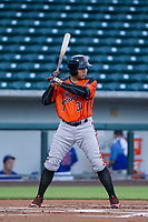AZL Giants right fielder Diego Rincones (35) at bat against the AZL Cubs on July 17, 2017 at Sloan Park in Mesa, Arizona. AZL Giants defeated the AZL Cubs 12-7. (Zachary Lucy/Four Seam Images)