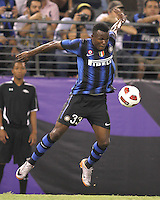 Nsofor Victor Obinna #33 of Inter Milan during an international friendly match against Manchester City on July 31 2010 at M&T Bank Stadium in Baltimore, Maryland. Milan won 3-0.