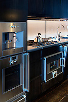 Modern kitchen with inox electrical appliances